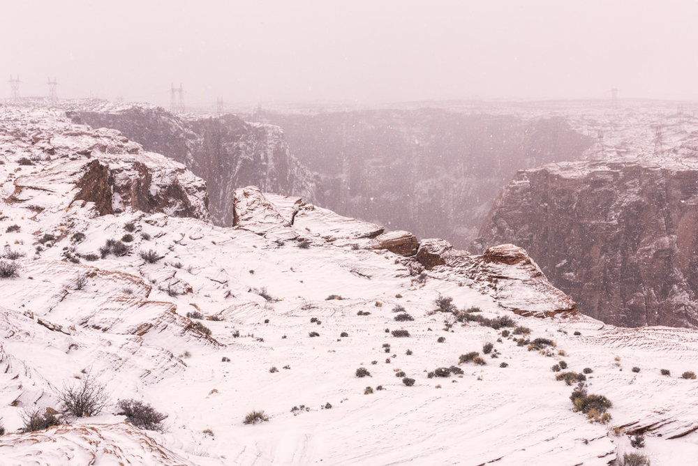 Snow Storm, Glen Canyon