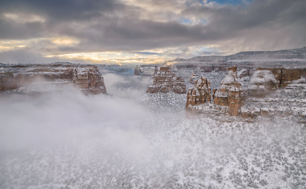 Foggy Winter Morning in Monument Canyon