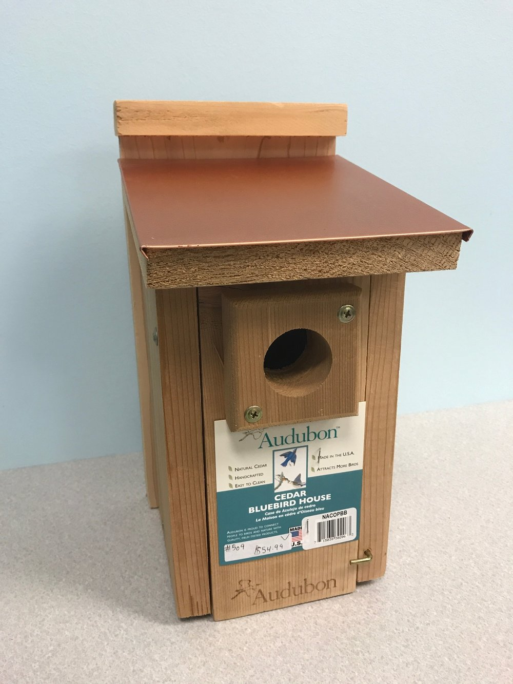 Cedar Bluebird house Bird House.JPG