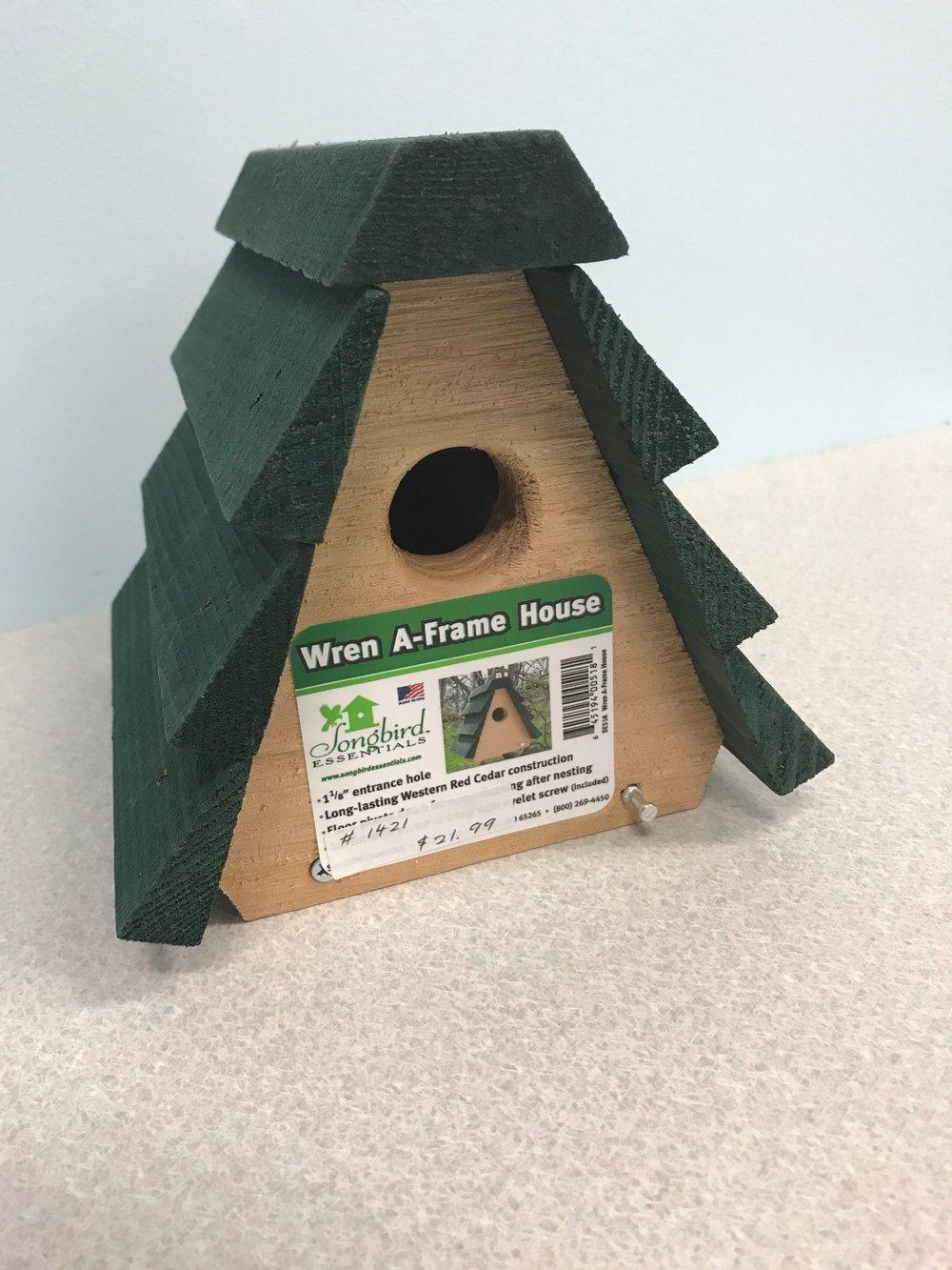 Wren A Framee House Bird House.JPG