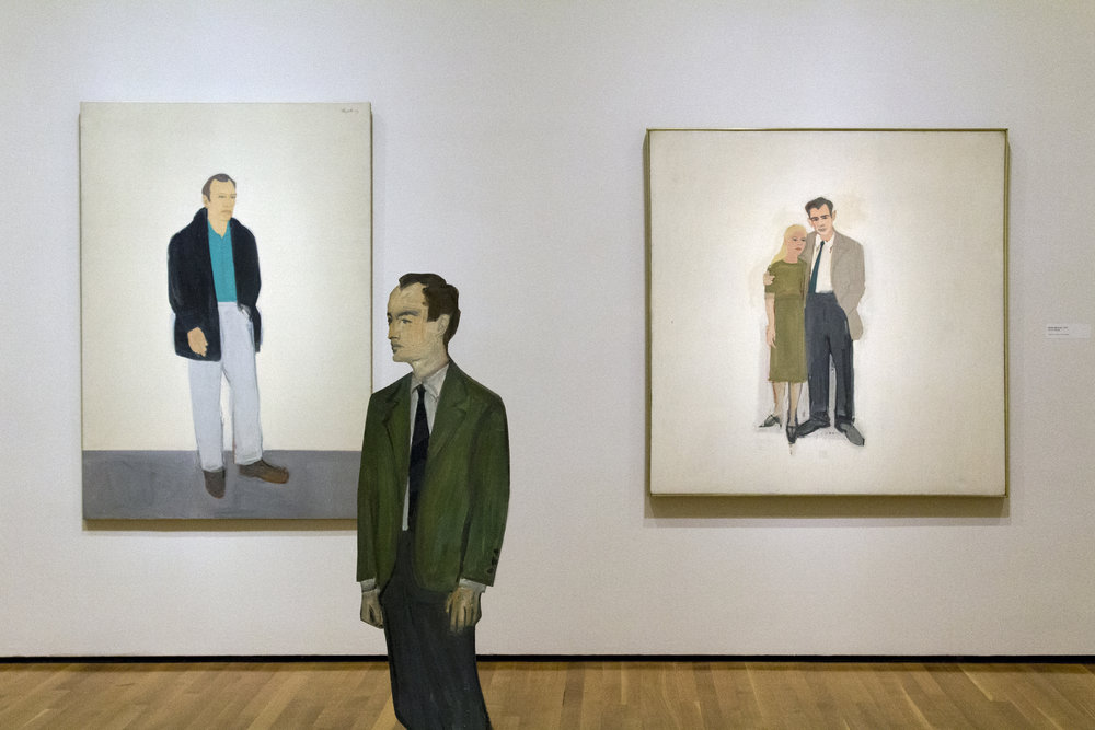"""""""Self Portrait Cutout"""" and """"Irving and Lucy"""" Oil on canvas, 1958. Alex Katz. Image courtesy of author."""