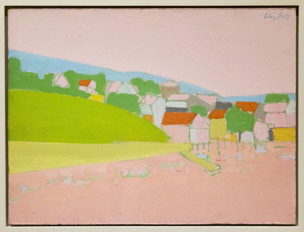 Landscape in Maine. Oil on canvas. Alex Katz. Image courtesy of artist.