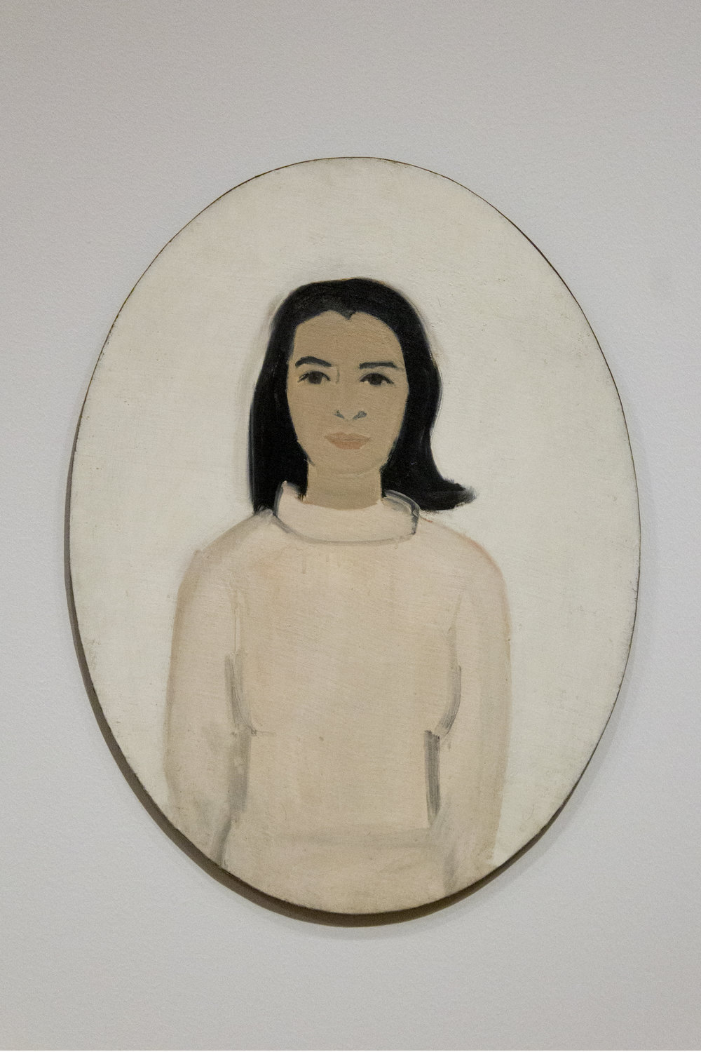 """Ada (Oval)"". Oil on canvas. Alex Katz. Image courtesy of author."