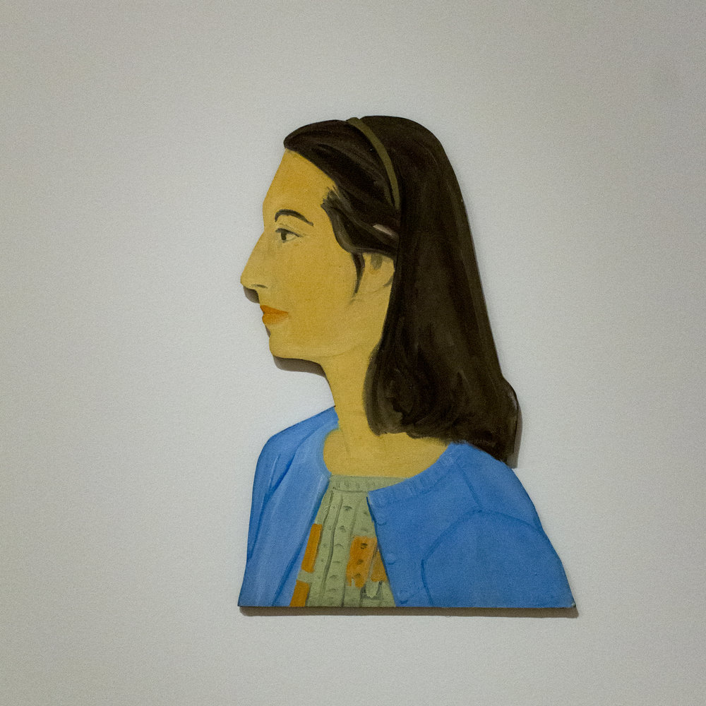 """Ada (Cutout)"". Alex Katz. Image courtesy of author."