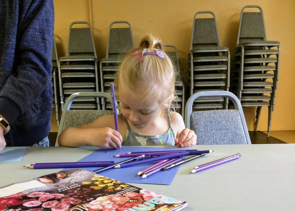 "Youth art class - ""purple is my favorite."""