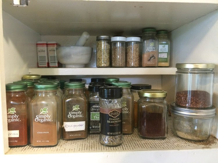 Store Spices in Glass Jars