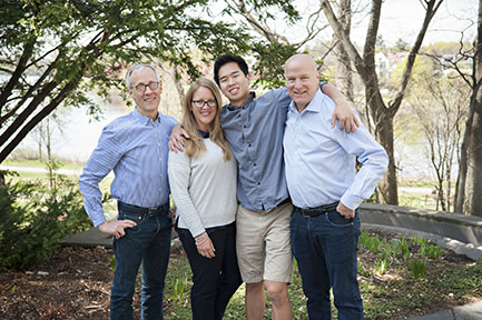 Left to right: Tom Hoch, daughter Chris, son John and husband Mark.