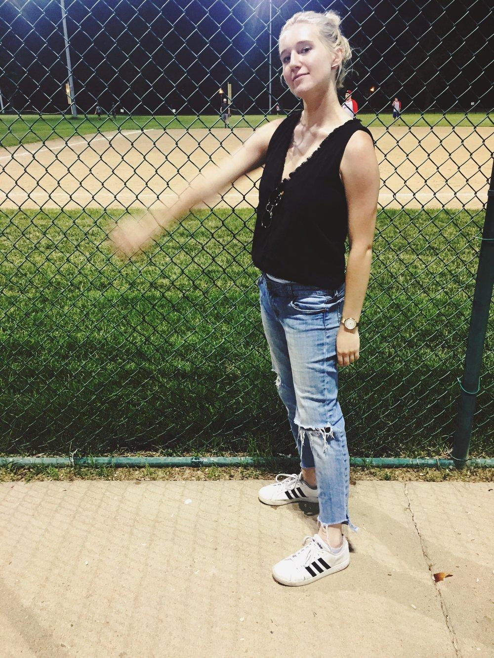 #athlete #softball #sportz #youcansortofseemyunderwear