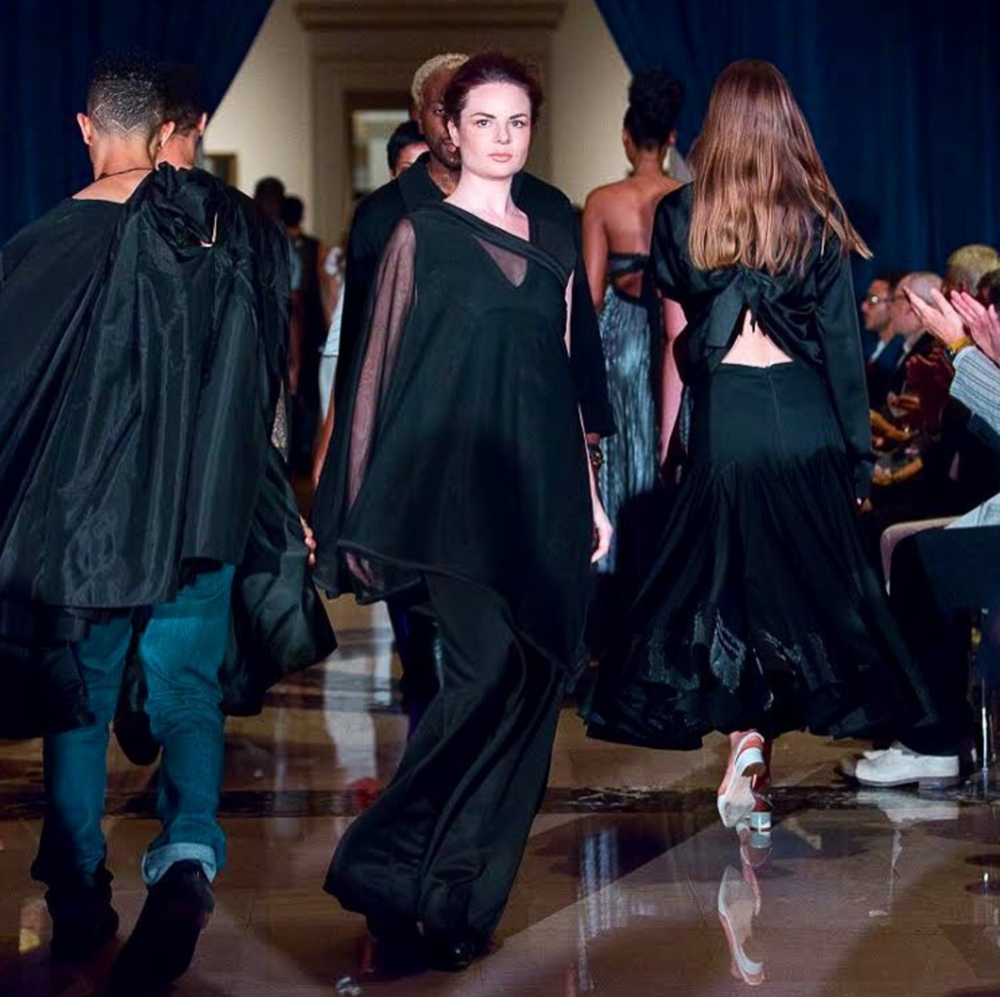 Allison slaying at the SLAM Vogue Fashion Show.