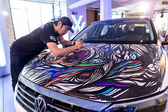 Day ✌️of #jettahaus happening today in MIA and CHI. Check out this piece of mastery drawn out by @revisecmw in Chicago. Don't worry Miami, we have plenty in store for you as well! #bettagettajetta #vw #campos #ccwla