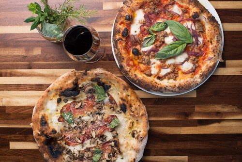 Ten Dollar Tuesday - Featured Whole Pizza + Glass of Wine = $10Front Patio + Bar ONLY3 p.m. - Close