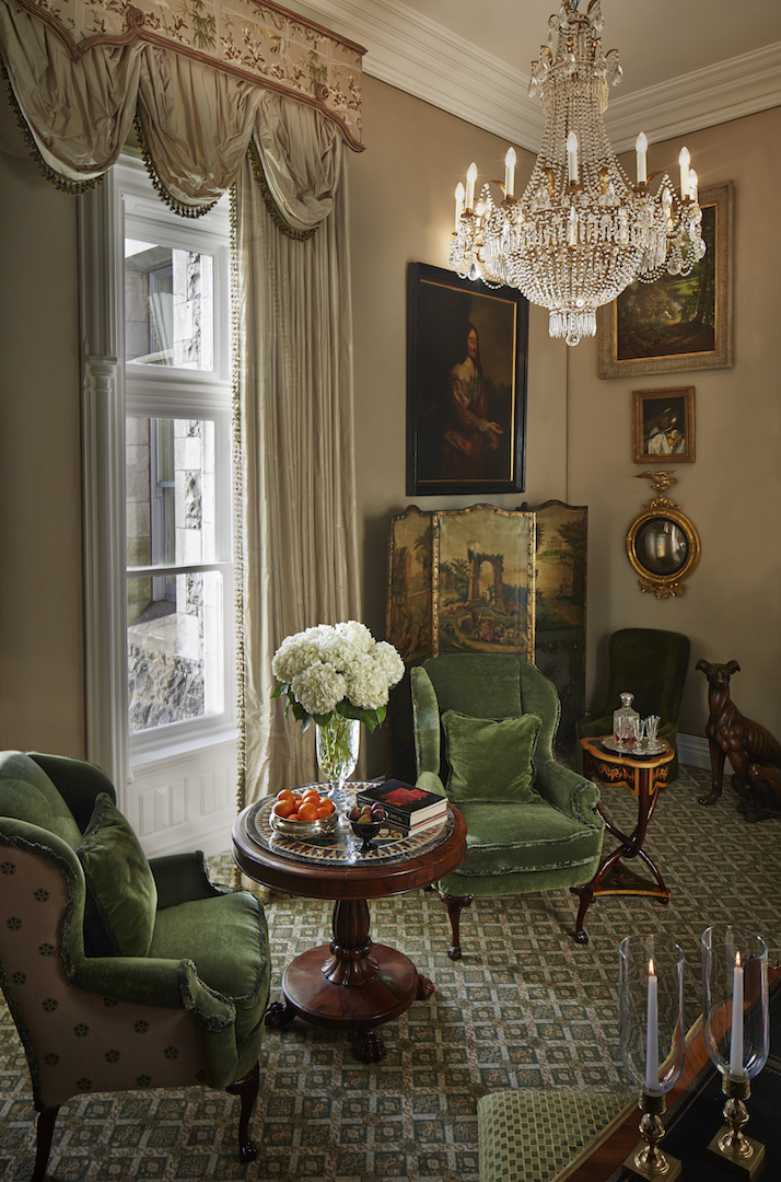 Sitting Room - The Reagan Presidential Suite - Image Courtesy Ashford Castle
