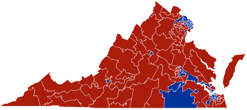 Virginia House of Delegates - Republican held district data snapshots