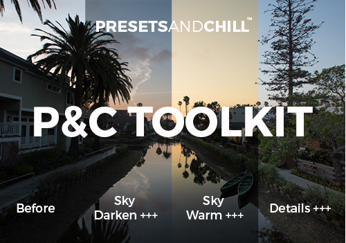 Preview of a few stackable presets included in the toolkit