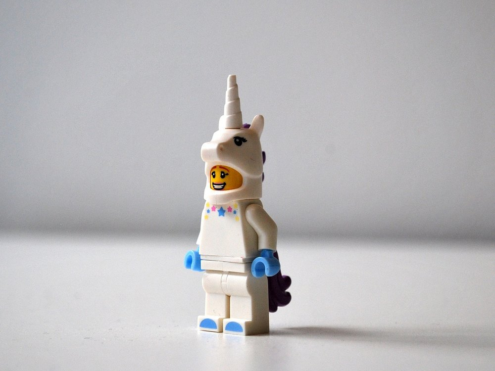 Each transaction is a unicorn. But only the cool ones are lego unicorns.