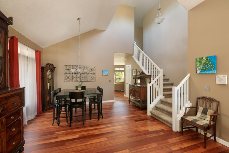 Continue into the dining room. Plenty of space for a big table