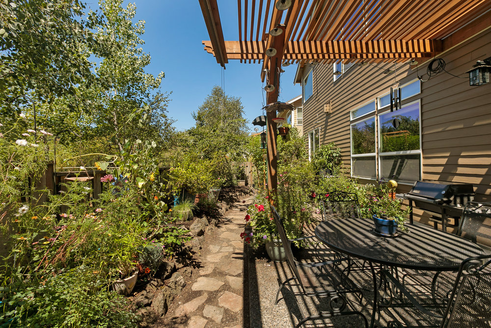 Down the path you'll find plenty of room for veggies and flowers, or get creative with your own backyard ideas.