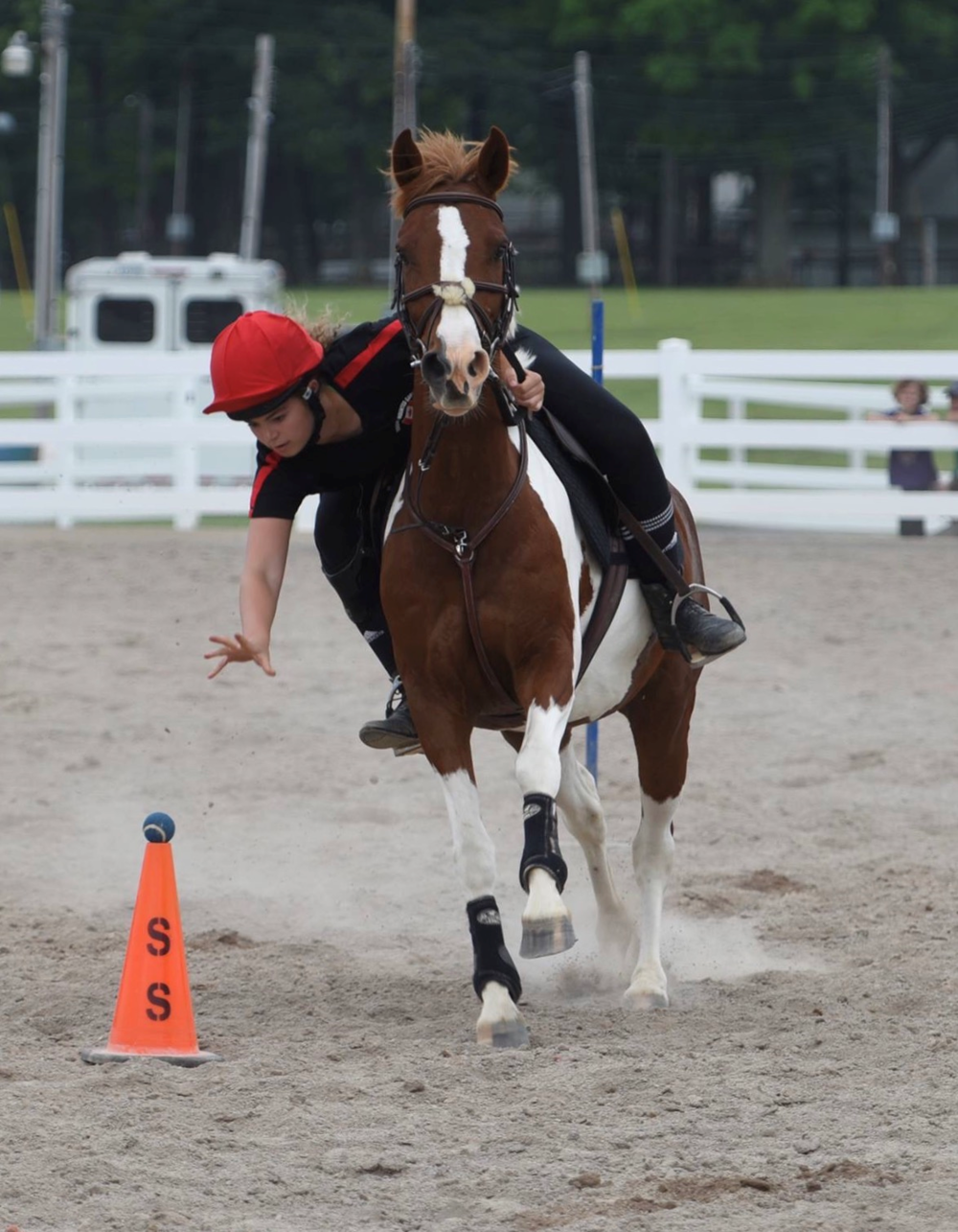 Mercedes Weber   Mercedes began riding at age 11, and joined Pony Club where she was introduced to Mounted Games. In 2014 she represented Canada at IMGE held in the United Kingdom, and in 2015 she competed at the U17 WTC held in Florida. She was the alternate for the 2016 WTC in Ireland.