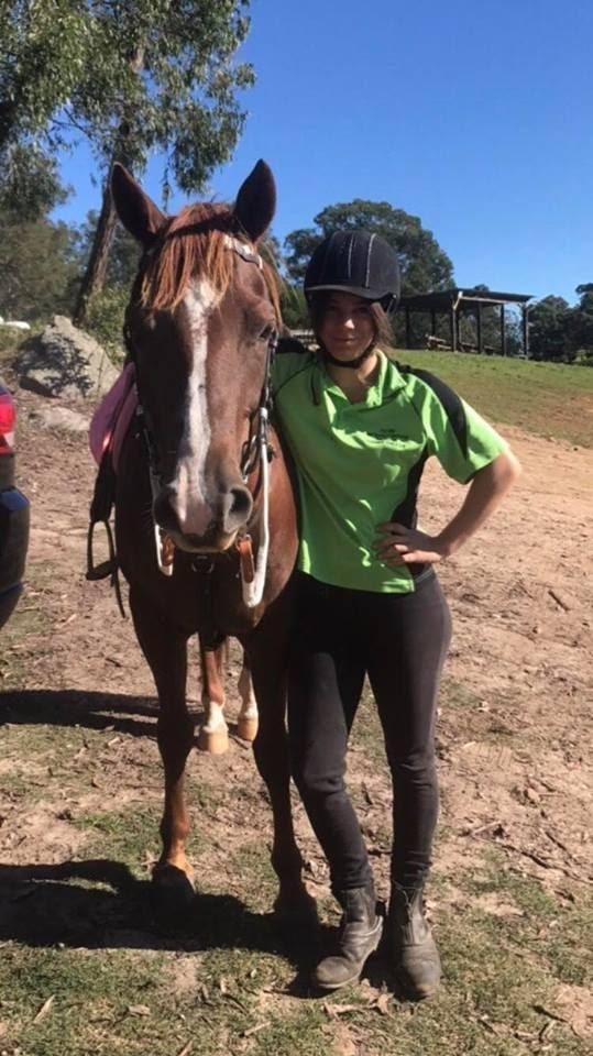 Annalise Gasparre   Annalise is a 19 year old from Sydney, Australia. She is studying media and marketing and hopes to work in TV and film in the future. She has competed in Mounted games for many years, and is looking forward to returning to USA to compete at Nations.