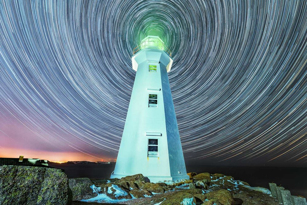 Cape Spear Lighthouse Star Trails