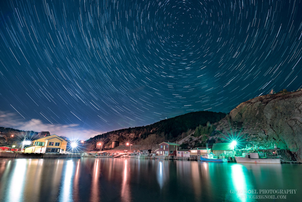 Final Image - Quidi Vidi Star Trails