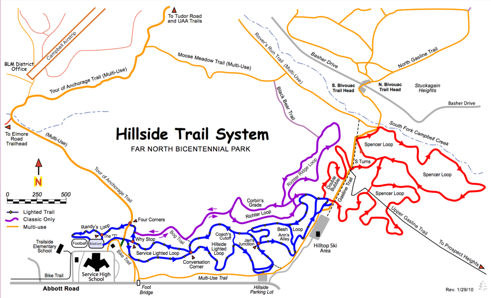Hillside trail system orignating form Hilltop Ski Area. Source: http://www.trailsofanchorage.com/Maps/HSTrailMap.pdf