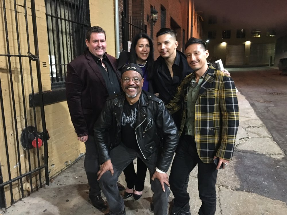 Frank, Vivian, Steve V. Rodriguez and Ep. 6 Special Guest, Rico Noguchi in DC with new Friend.