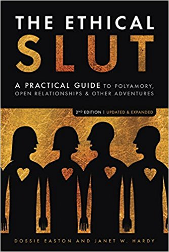 "Mentioned on Episdoe 9 by Special Guest, Ty Vincent.   The authors define the term   slut   as ""a person of any  gender  who has the courage to lead life according to the radical proposition that  sex  is nice and  pleasure  is good for you."" The term is  reclaimed  from its usual use as a  pejorative  and as a simple label for a  promiscuous  person. Instead, it is used to signify a person who is accepting of their enjoyment of  sex  and the  pleasure  of physical  intimacy  with others, and chooses to engage and accept these in an ethical and open way—rather than as  cheating .   The Ethical Slut  discusses how to live an active life with multiple concurrent sexual relationships in a fair and honest way. Discussion topics include how to deal with the practical difficulties and opportunities in finding and keeping partners, maintaining relationships with others, and strategies for personal growth.  It contains chapters discussing how consensual non-monogamy is handled in different  subcultures  such as the  gay  and  lesbian  communities, information on handling scheduling,  jealousy , communication, conflict in relationships, and  etiquette  for  group sexual  encounters."