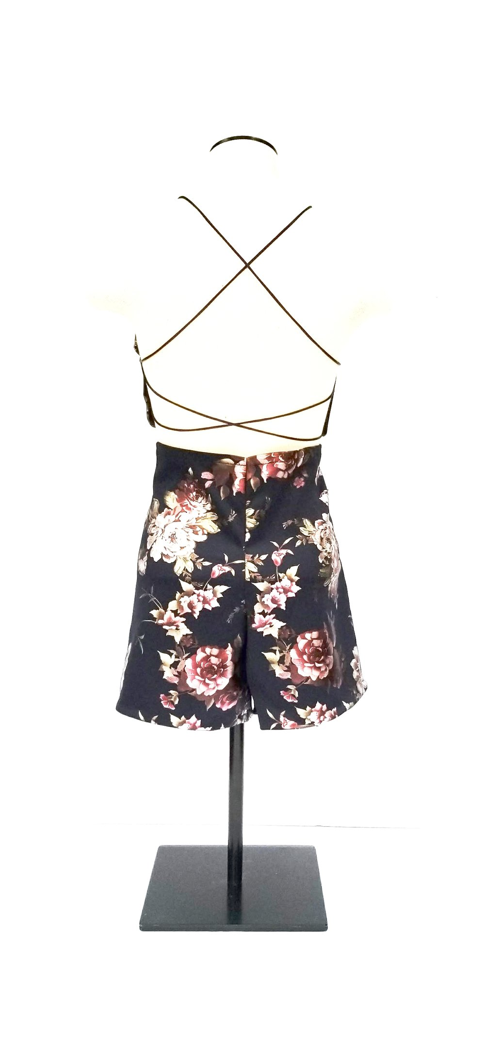 Navy Floral Two Piece (back)