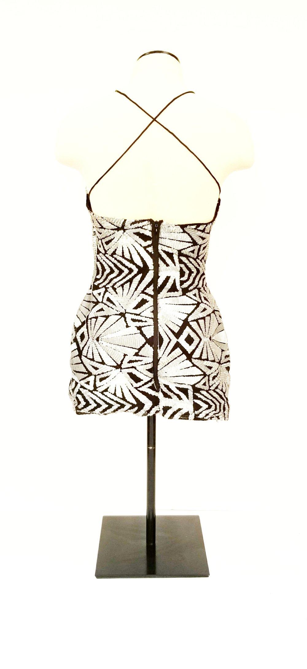 Sequined Art Deco Mini Dress (back)