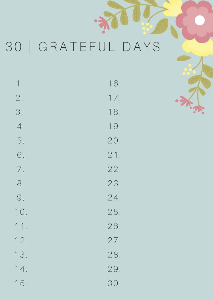 30 GRATEFUL DAYS CHALLENGE