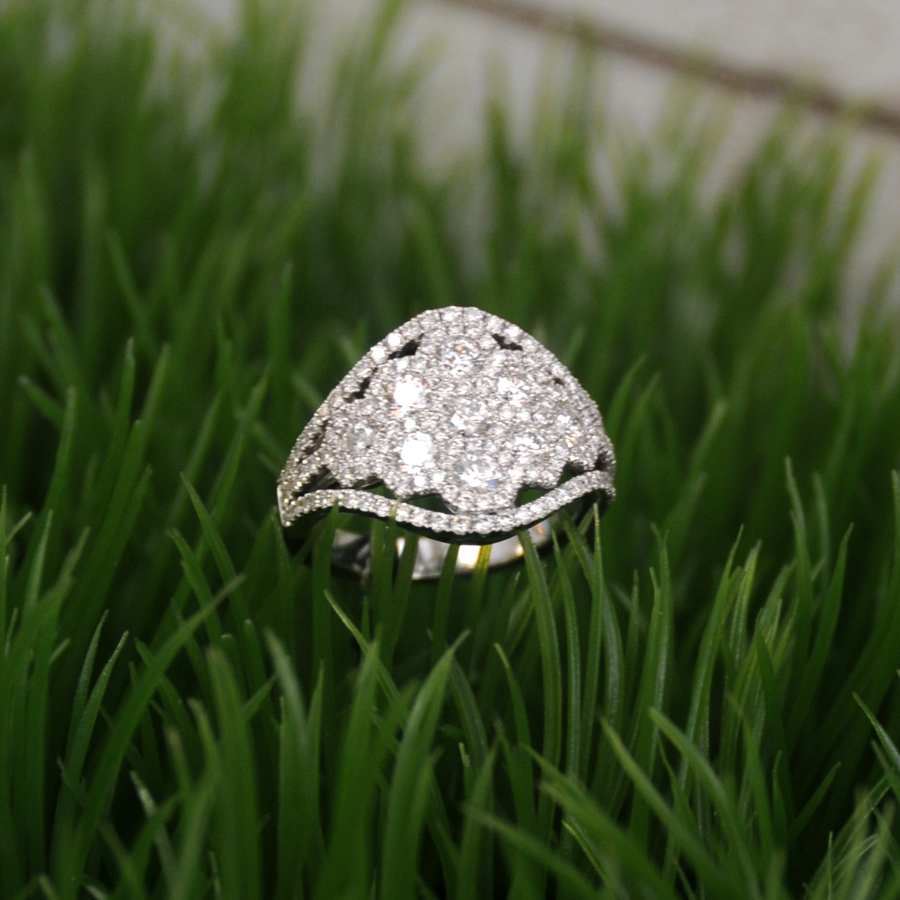 SPARK CREATIONS  DIAMOND COCKTAIL RING