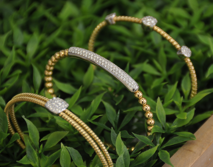 DA GOLD  STACKABLE DIAMOND CUFFS