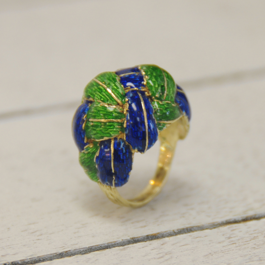 Enamel   Estate   Ring