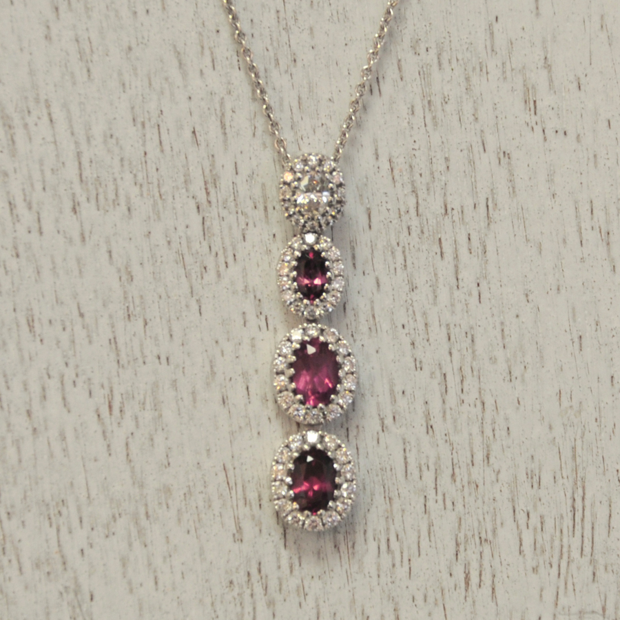 Custom Designed Mother's Birthstone Pendant
