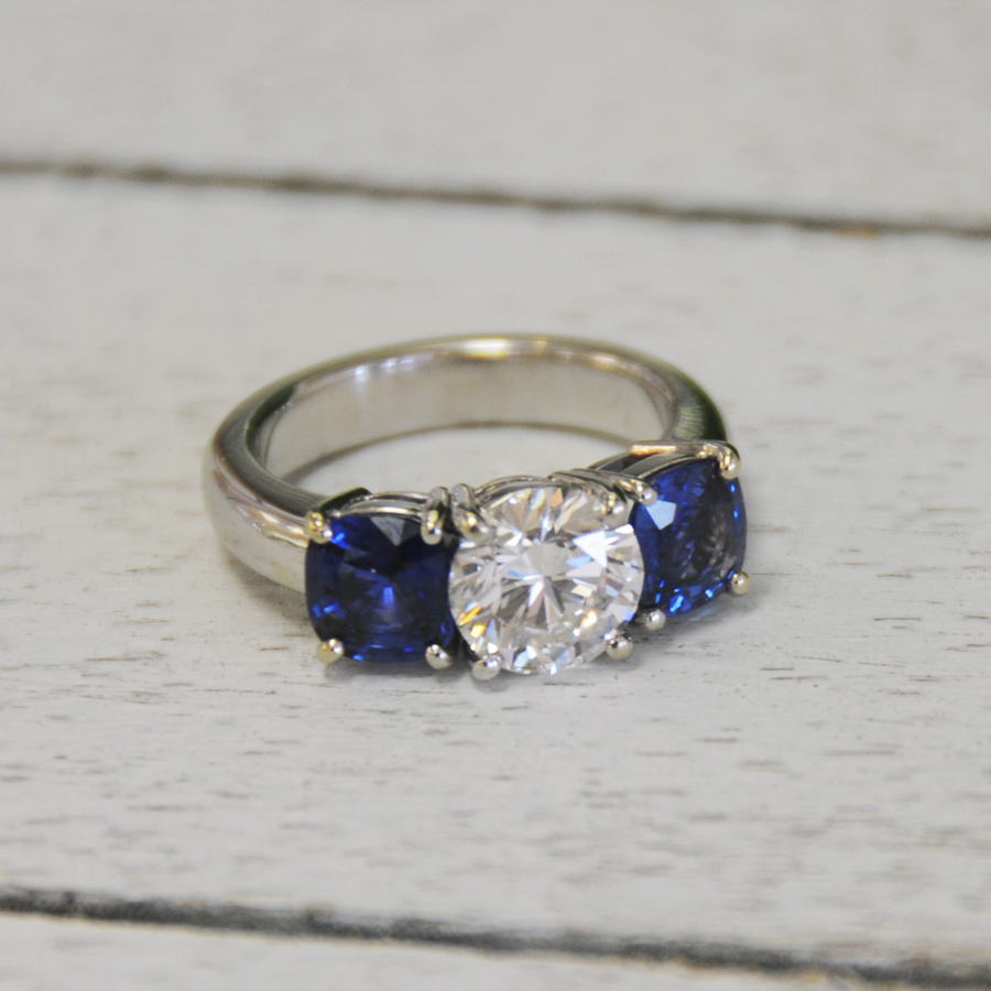 Custom Engagement Ring with Estate Diamond