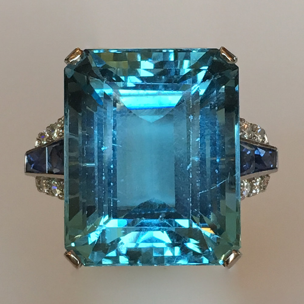 Original 33.90 carat Aquamarine