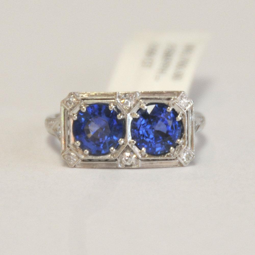 #15 Plat Dbl Sapphire