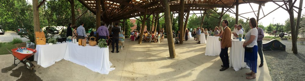 Eva and Joy's wedding at Bernice Garden in the SOMA area of Little Rock.