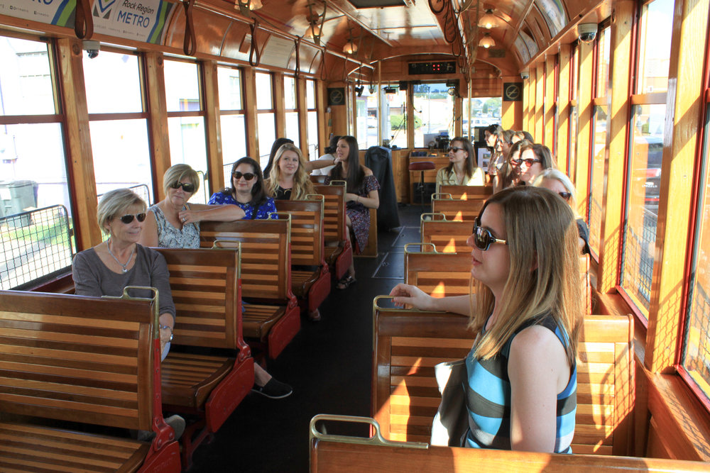 Trolley Ride in Downtown Little Rock