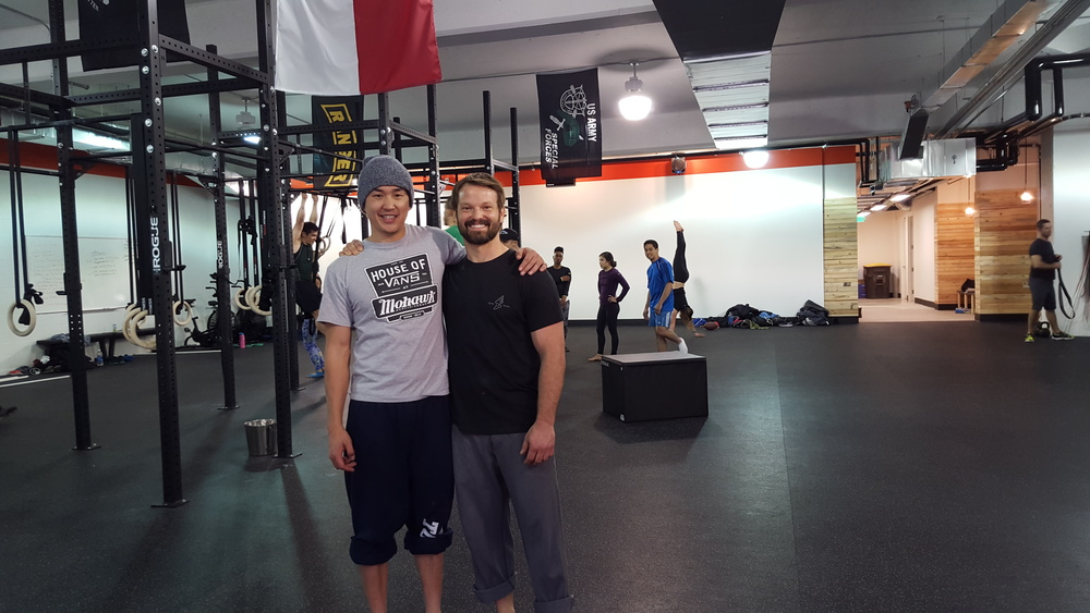 @ Crossfit Pac Elm . Dr. Blake Wu and Brian Johnson