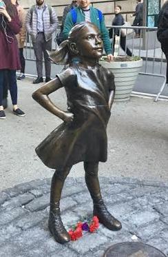 Fearless GirlBy Kristen Visbal Photo by:Rachel Knipel,CC BY-SA 4.0,Link