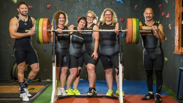 New Zealand lifters from Nelson at the World Masters Games 2017