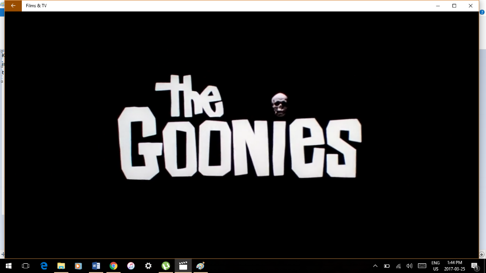 It's yet to work, but here it goes anyway:  Goonies & Chill anyone? ;)