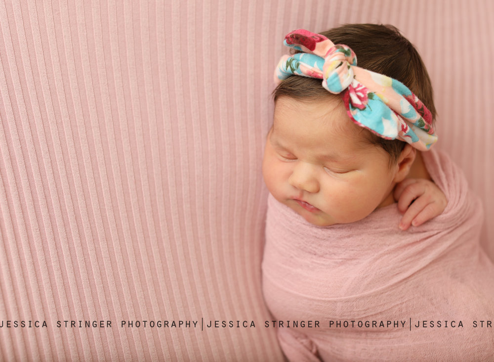 baby girl newborn photo session rochester ny