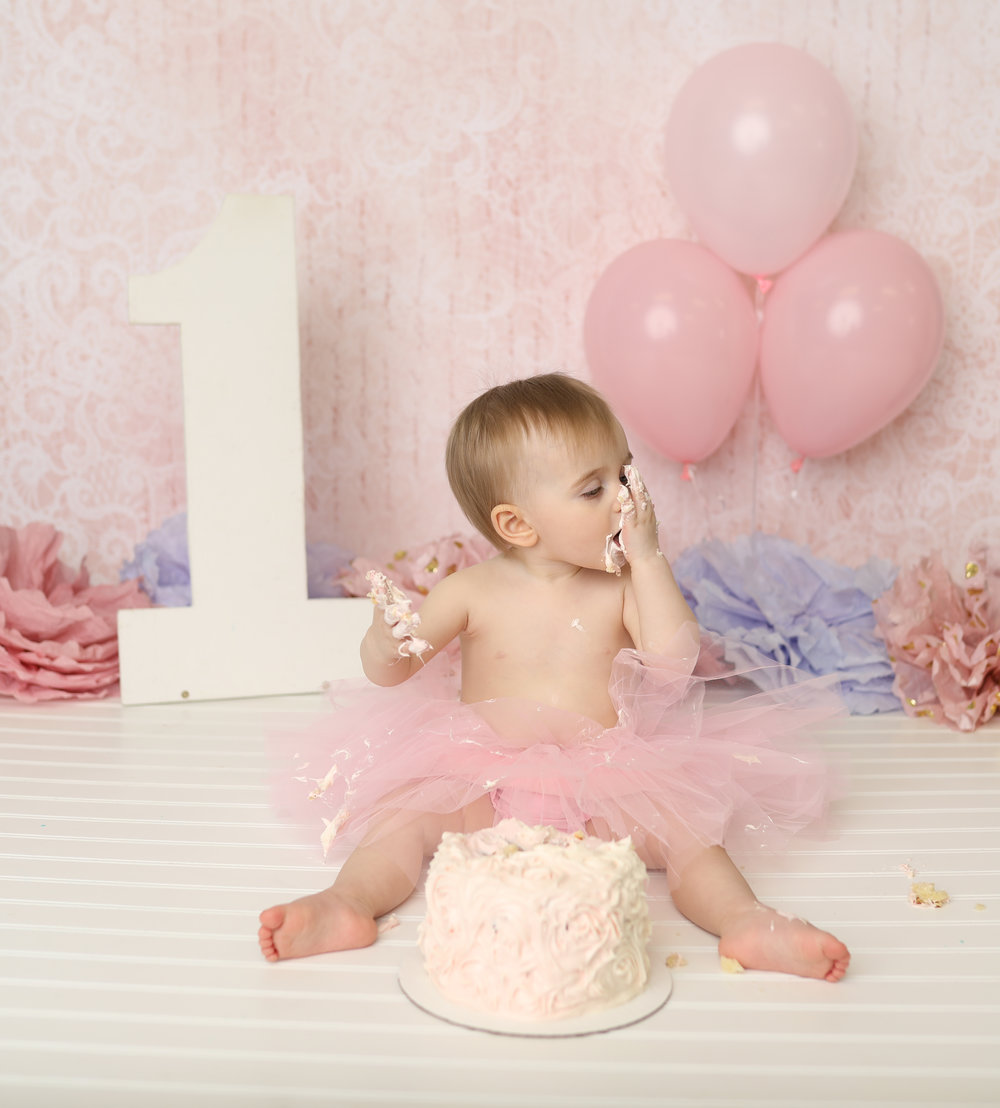 Rochester ny best baby infant first birthday photos cake smash
