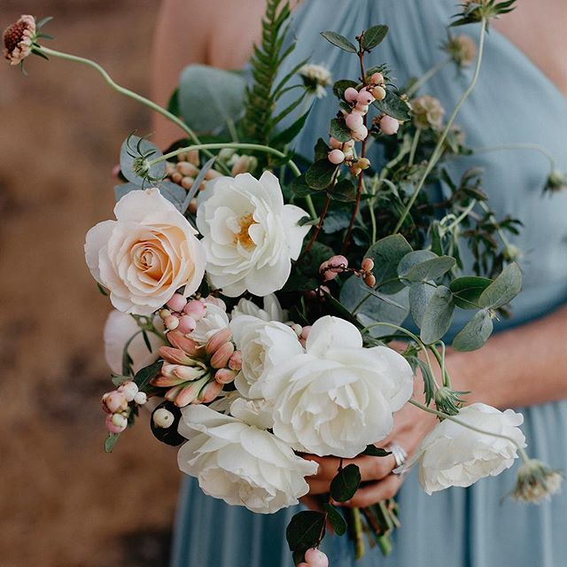 @lambertfloralstudio put the prettiest garden roses is this bouquet for @akkarrasch at our Big Sur elopement!