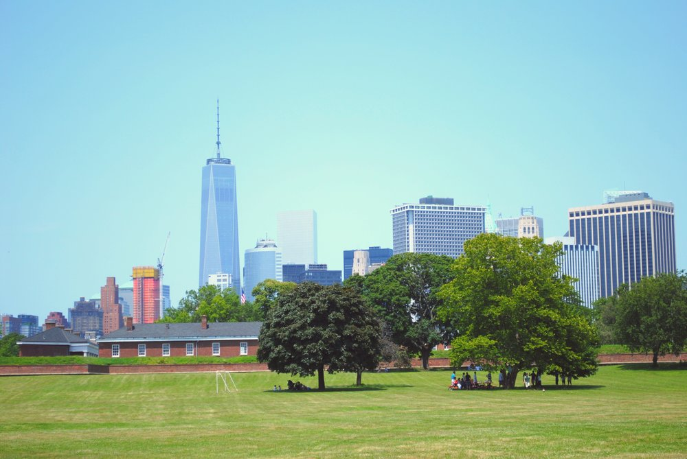 View of Freedom Tower from Governor's Island, New York