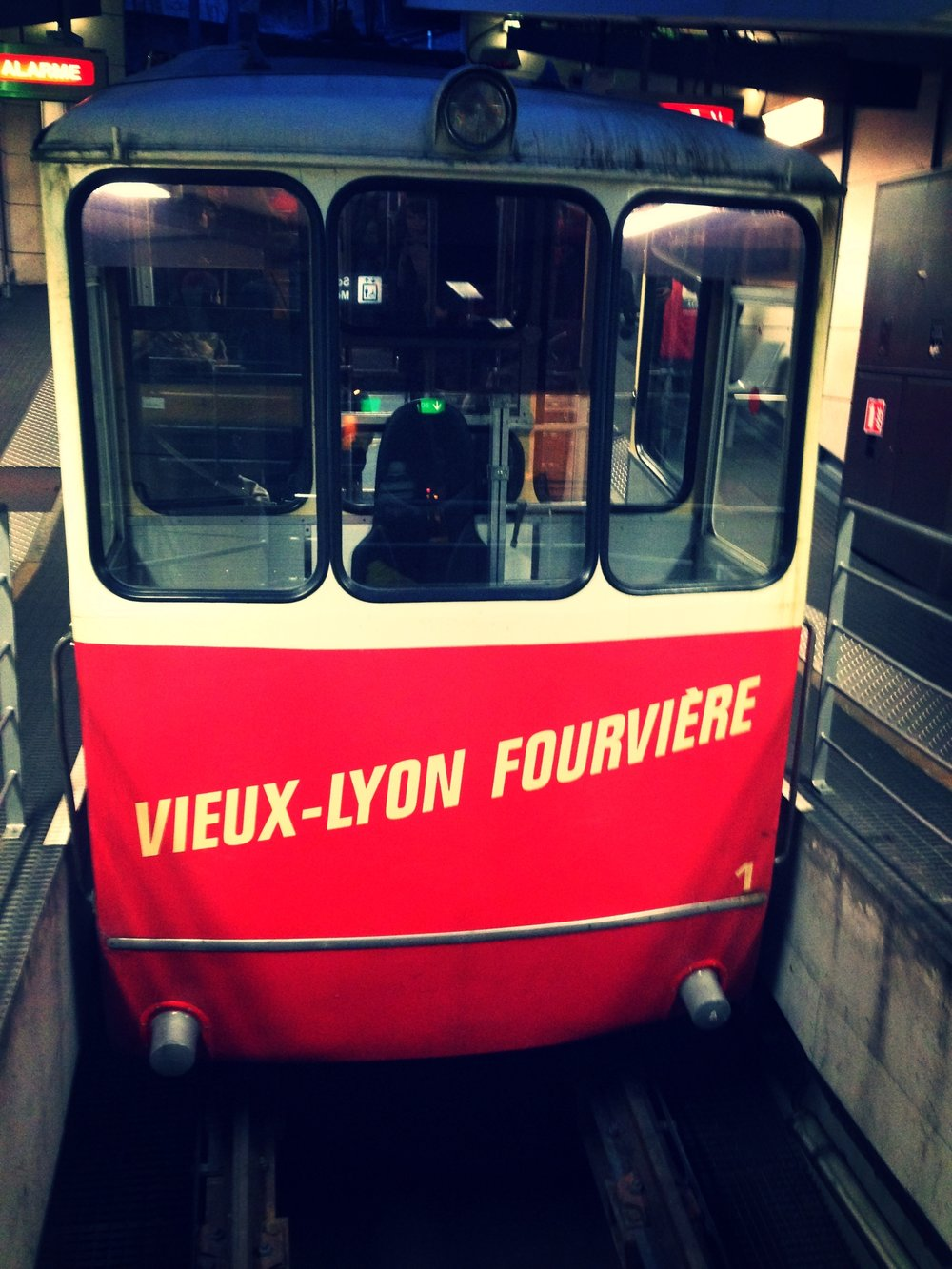 Funicular to Fourvière in Lyon, France