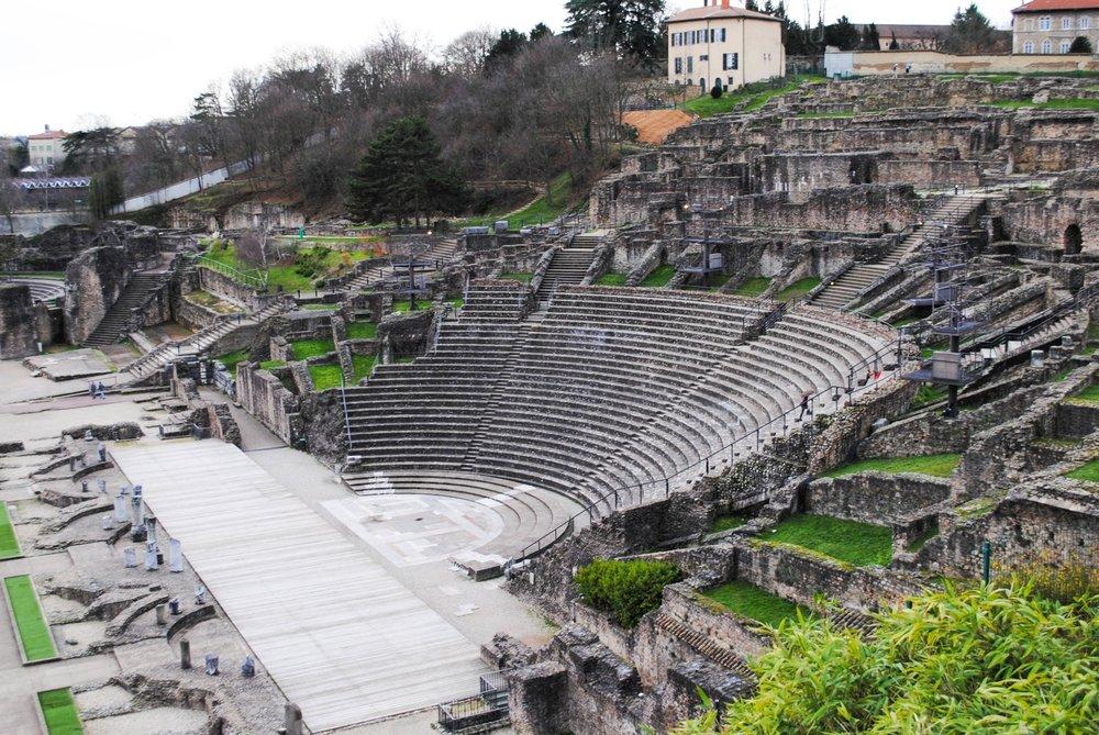Roman Ruins in Lyon, France
